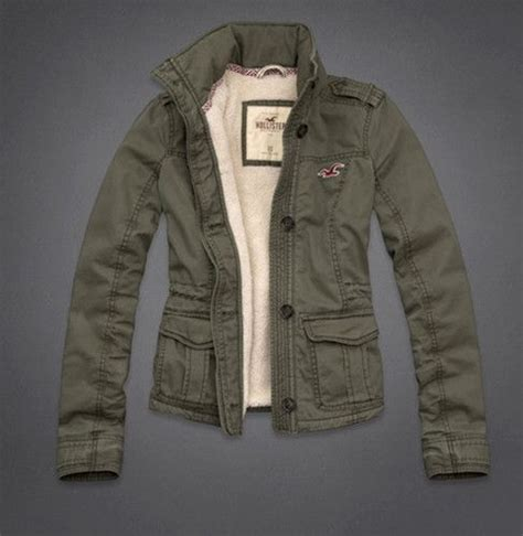 Army Green Hollister Abercrombie Cargo Military Parka