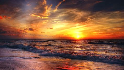Free Beach Sunrise Chromebook Wallpaper Ready For Download