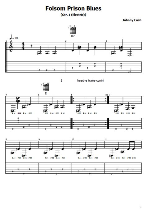 Folsom Prison Blues Tabs Johnny Cash How To Play Folsom